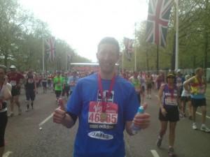 Me at London Marathon Finish