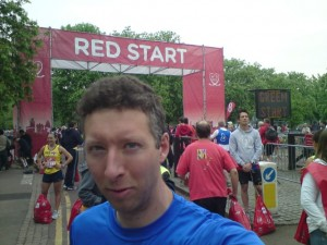 Me at London Marathon start - Greenwich Park