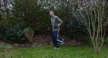 Me running in leafy SW19